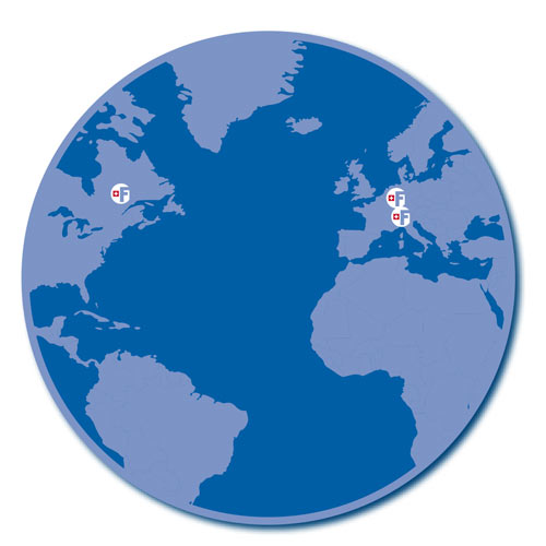 Carte monde FRACTAL-SWISS